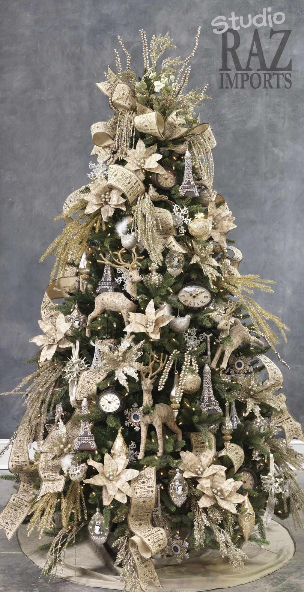 preparing a christmas tree