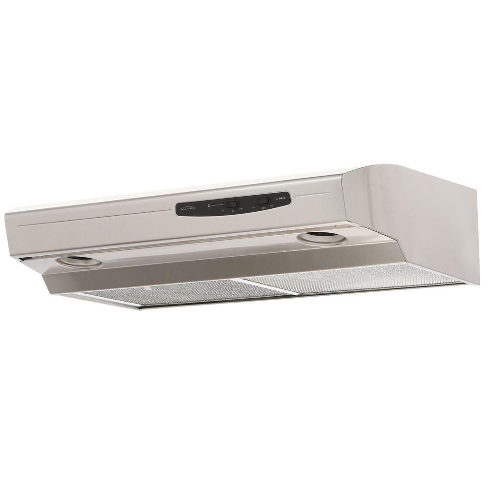 Broan Nutone Allure I Series 30 In Convertible Under Cabinet Range Hood With Light In Stainless Steel Ws130ss The Home Depot Range Hood Under Cabinet Range Hoods Stainless Steel