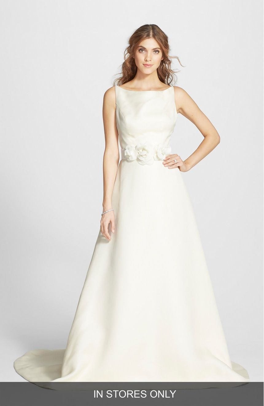 Main Image Caroline Devillo Jacqueline Silk Gazar A Line Dress In Stores Only Dresses Satin Wedding Gown Gowns Dresses,A Line Wedding Dress Sparkle