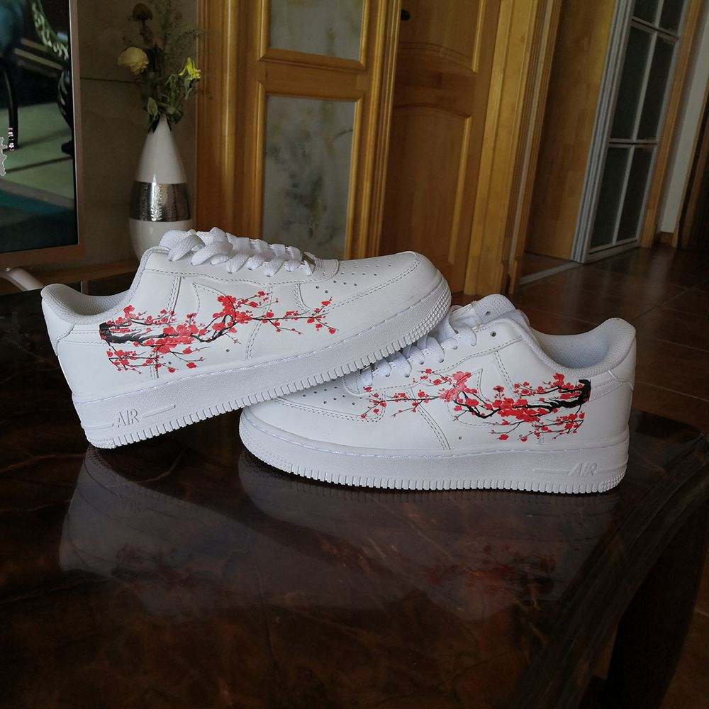 Red Blossom Patches for Custom Air Force 1 or Vans Blossom
