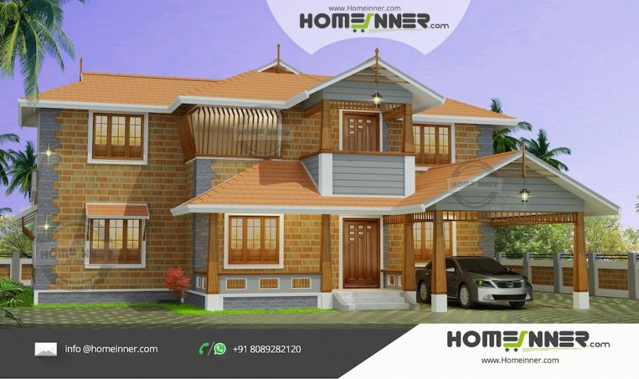 Front Design Of Normal House Part - 17: 3479 Sq Ft 4 Bedroom Normal Front Elevation Designs