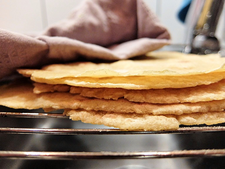 tortilla recept majsmjöl