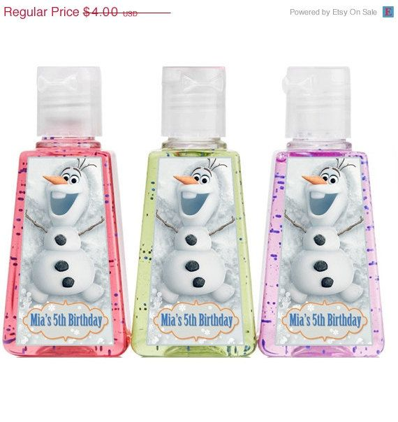 20 Off Sale Personalized Frozen Olaf 1 Oz Hand Sanitizer Party