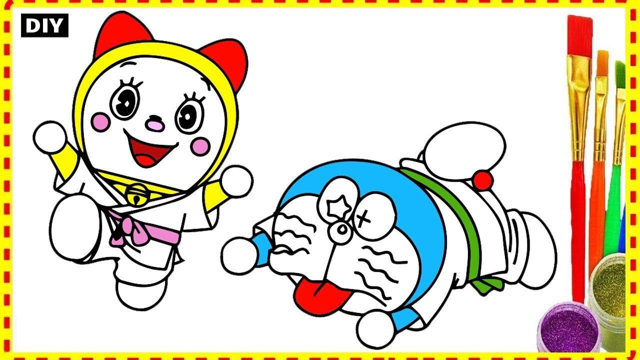 Draw Doremi And Doremon Funny Karate Do In Doremon Movie Coloring For K Funny Doraemon Cartoon