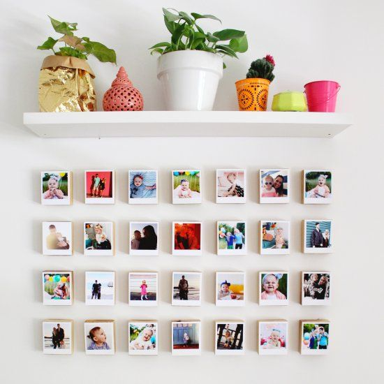 6 Ideas On How To Display Your Home Accessories: Turn Your Fave Photos Into Polaroid-like Prints And Then