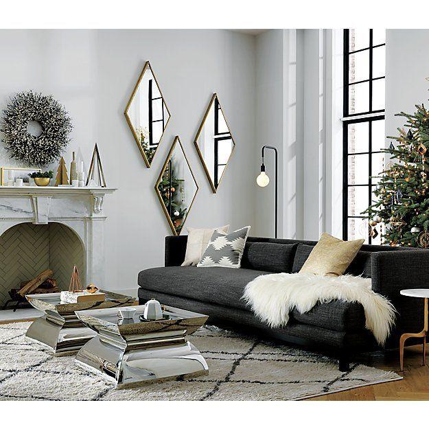 Living Room With Black Sofa Black Living Room Living Room Sofa