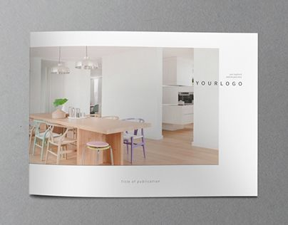 Minimal interior design brochure template Graphic - interior design brochure template