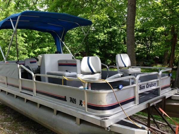 Sun Cruiser/Fisher Pontoon Boat & Trailer | Pontoon boat ...