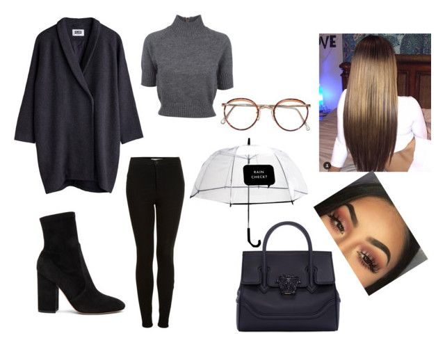 """""""))"""" by mirimarimi ❤ liked on Polyvore featuring Carven, Topshop, Valentino, Versace and Kate Spade"""