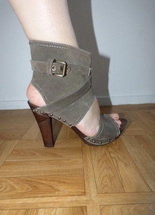 f7e51838c41e Sandale croute de cuir grise Nothing Else taille 41