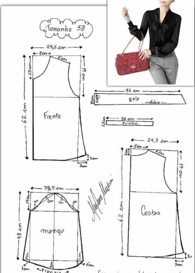 Pin de Maritza Romero en PATRONES | Pinterest | Costura, Blusas y ...