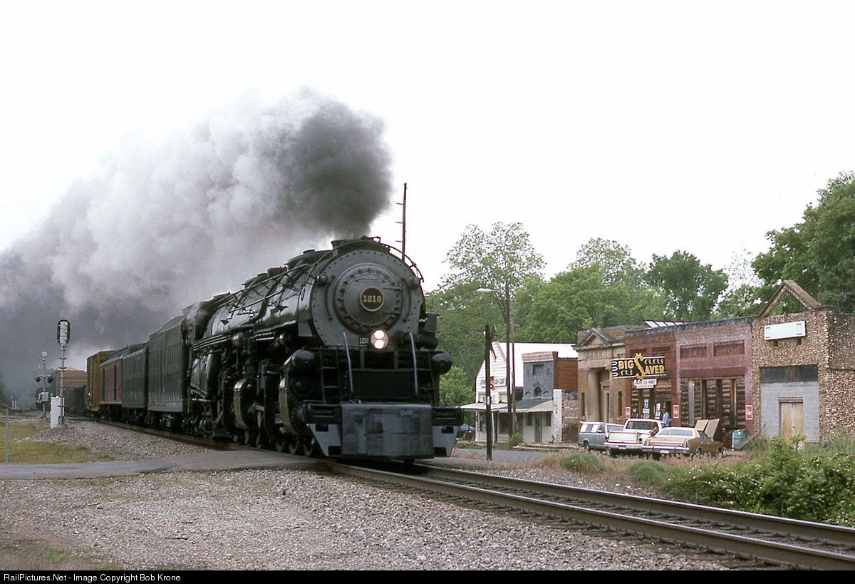 N&W 1218 Norfolk & Western Steam 2-6-6-4 at Lincoln, Alabama by Bob Krone