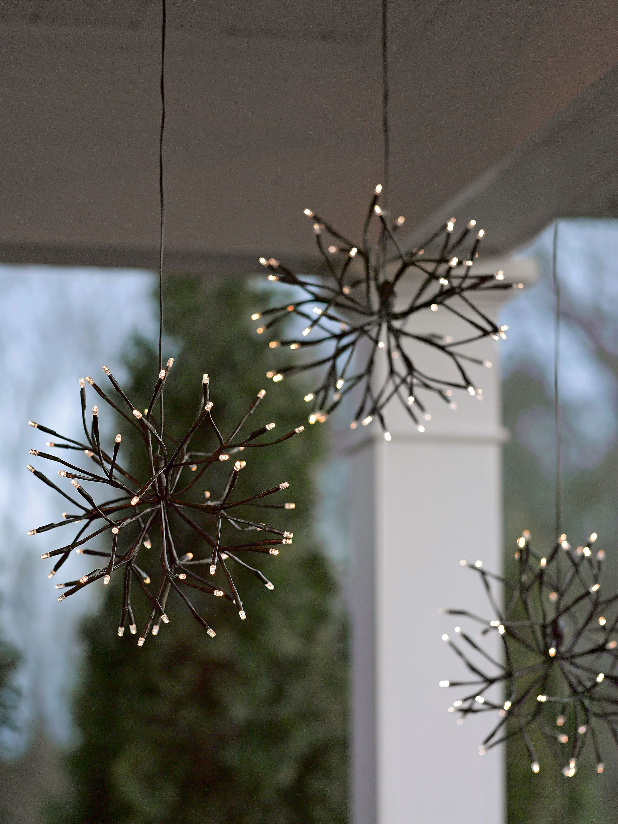 Eclairage De Noel Exterieur Lighted Branches Led Winter Branch Starburst Battery