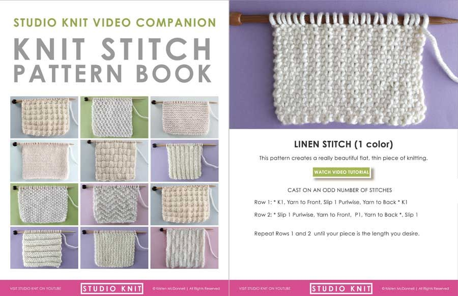 How To Knit The Linen Stitch Pattern With Video Tutorial Tutotial