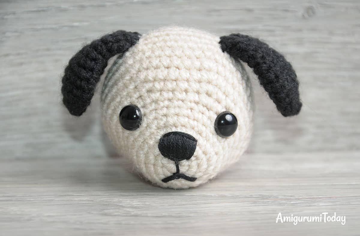 Patrón de ganchillo Tommy the Dog - cabeza   amigurumi 2   Pinterest ...