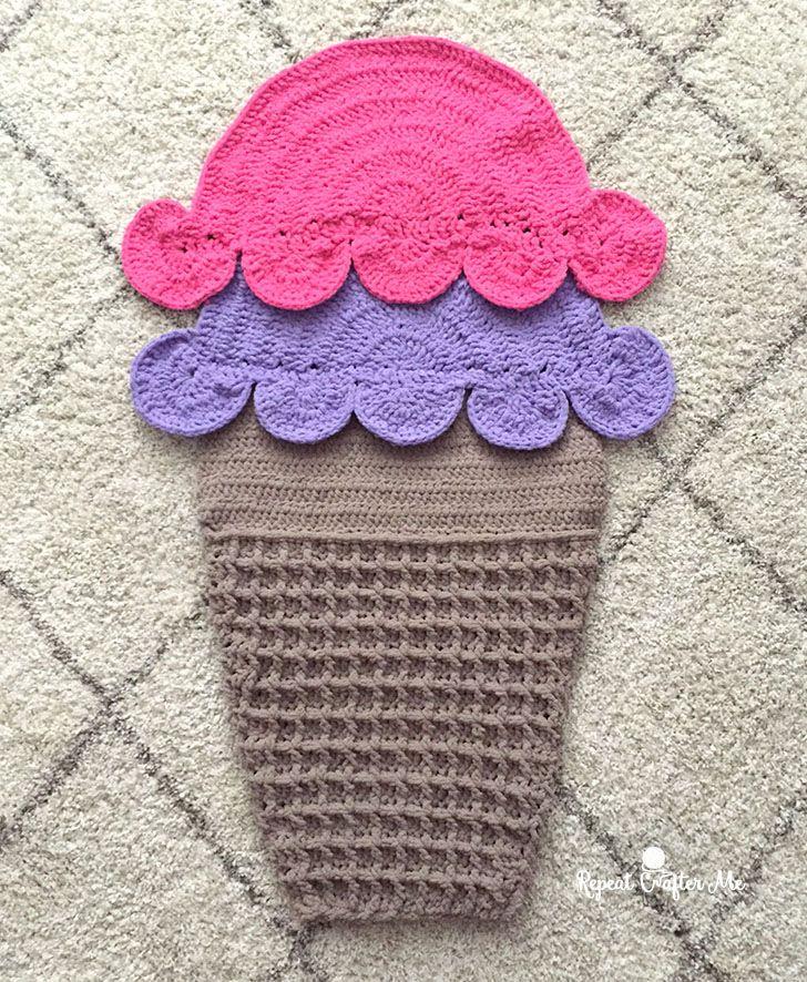 Yarnspirations Double Scoop Crochet Snuggle Sack and Slumber Party ...