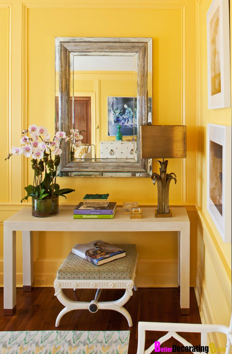 Sunny yellow walls from Better Decorating Bible. Get the look! Inspo ...