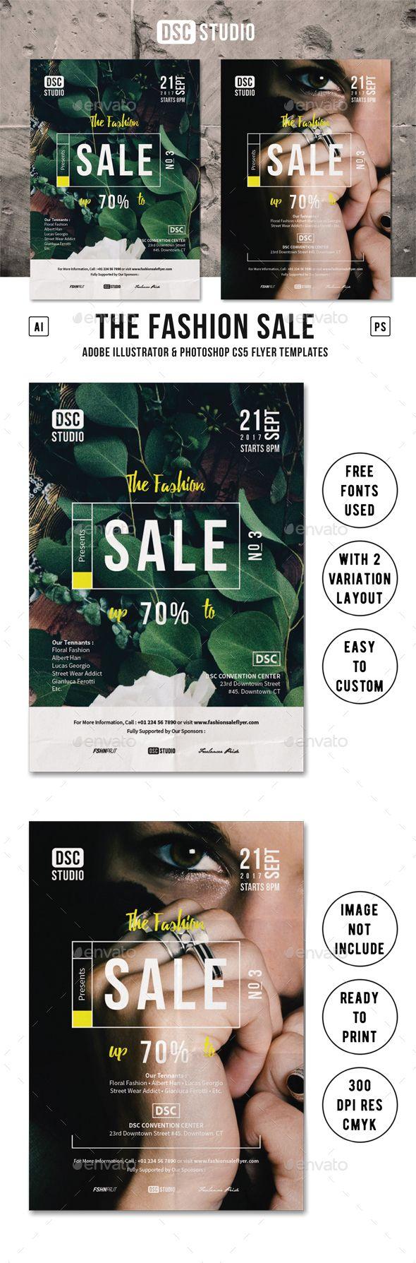Fashion Sale Flyer Ai Illustrator Flyer Template And Illustrators - Sales flyer template photoshop