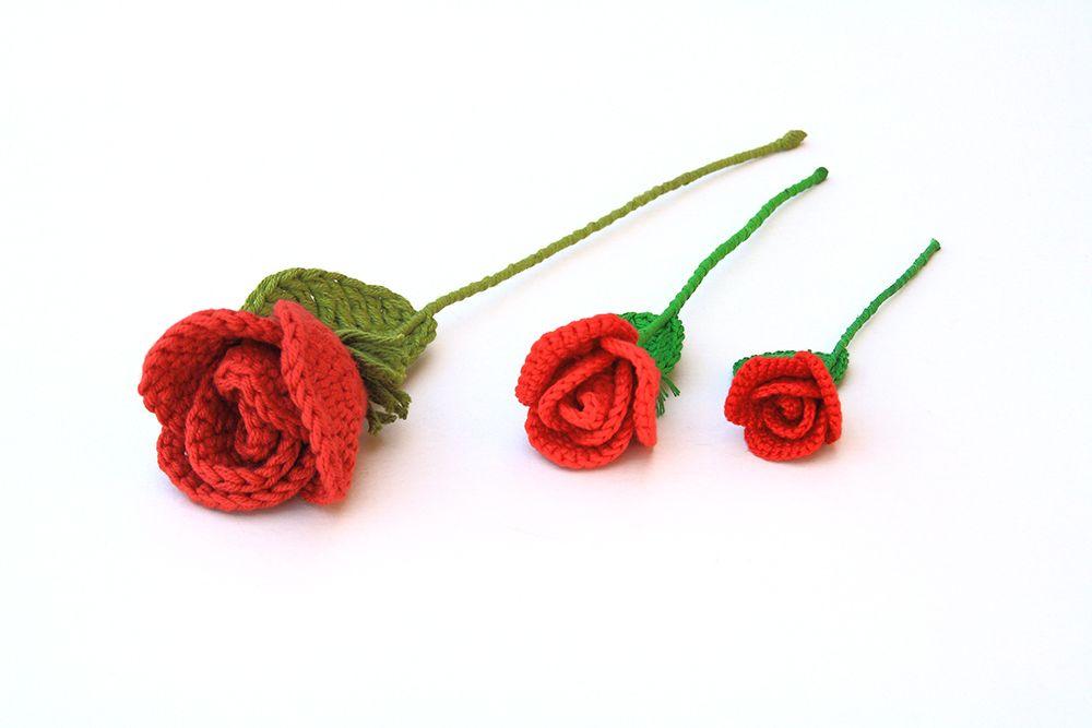 El Club del Patrón: Rosas de ganchillo | CROCHET FLOWERS LEAVES ...