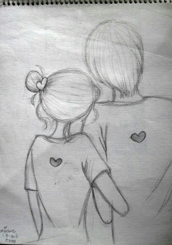 Cute couple drawing | Art drawings sketches, Sketches ...