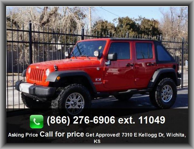 2009 Jeep Wrangler Unlimited X Suv Type Of Tires At Silver Styled Steel Rims Passenger Airbag Front Hip Room 55 6 Manual Fr Wichita Usedcars 2009 Jeep Wrangler Jeep Wrangler Unlimited Jeep Wrangler