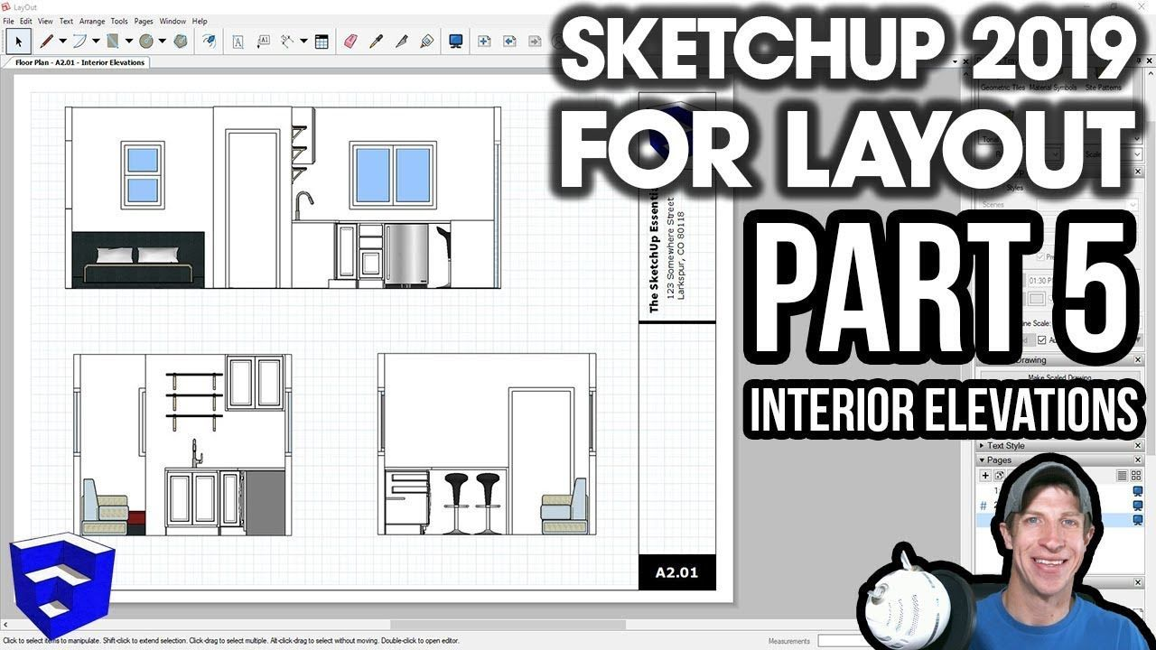 Sketchup 2019 For Layout Part 5 Creating Interior Elevations The Sketchup Essentials Layout Elevation Interior