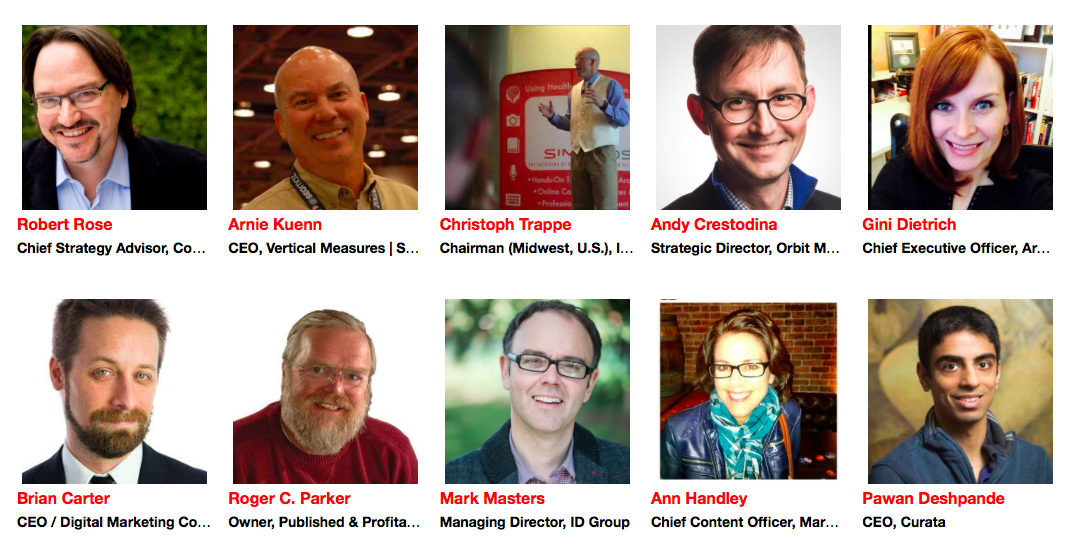 20 Most Influential Marketers (content & influencer marketing) at #CMWorld  via Traackr