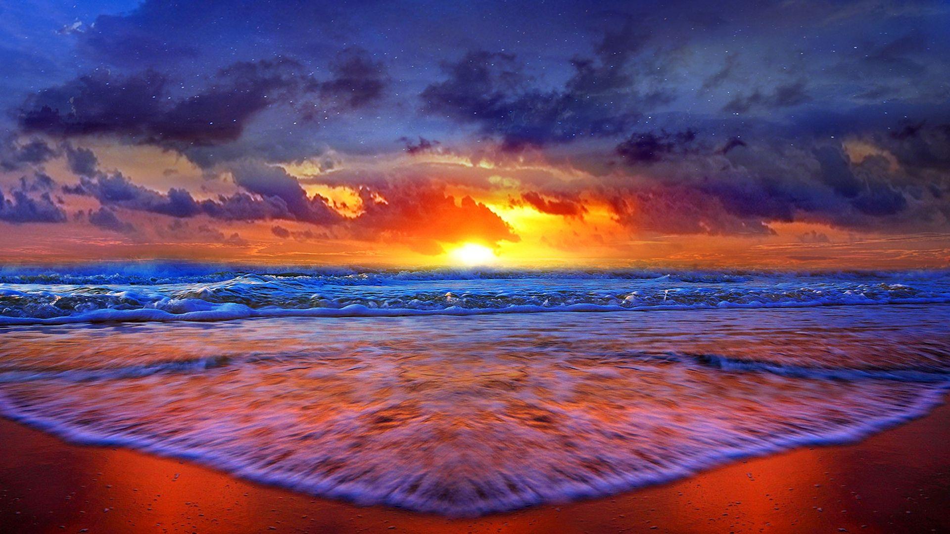 Coast Nature Shore Sunshine Sky Ocean Sun Sunrise Beach Sunset Sunlight Evening Waves Clouds Sand Sea Water Summer Beach Sunset Beach Wall Decals Sunrise Beach