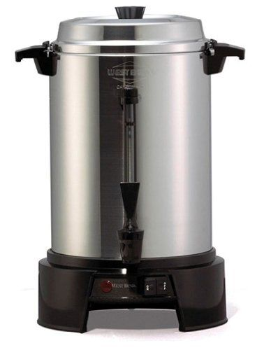 West Bend 13500 55 Cup Polished Aluminum Commercial Coffee Urn By West Bend 118 99 Twist To Secure Lid Stay Cool Coffee Urn Coffee Cups K Cup Coffee Maker