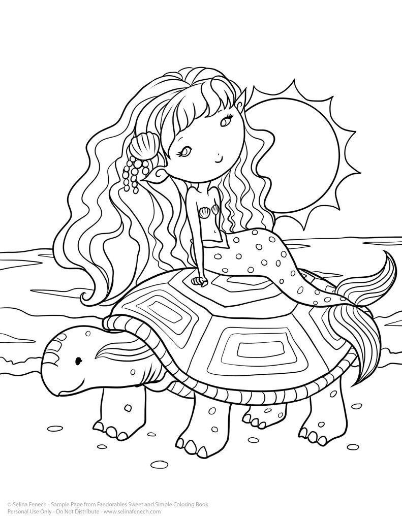 Selina Fenech Faedorables Unicorn Coloring Pages Detailed Coloring Pages Fairy Coloring Pages