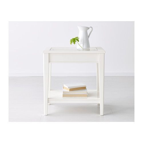 Liatorp Side Table Whiteglass Ikea Furniture Pinterest