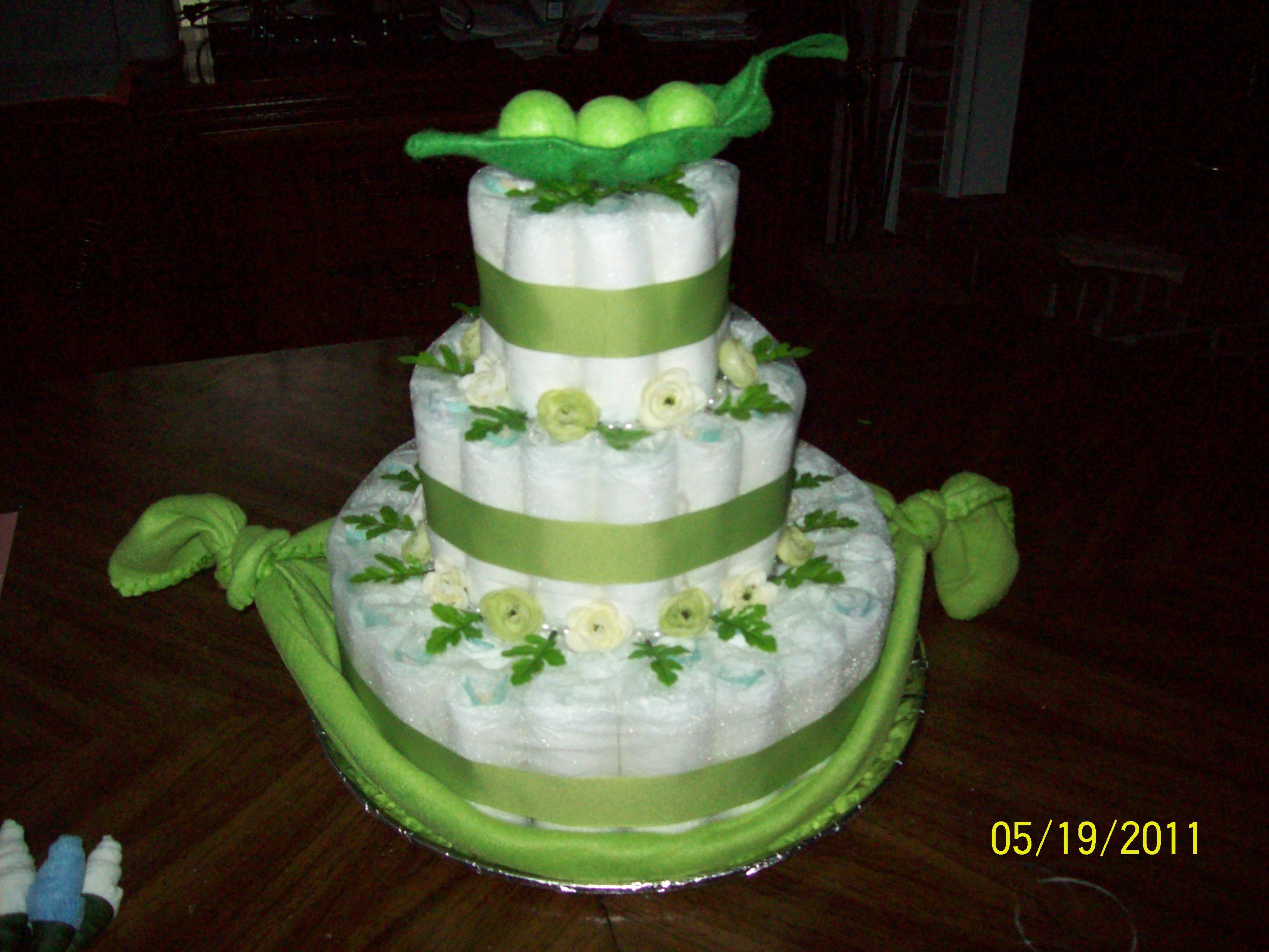Peas In A Pod Diaper Cake I Made For My Sisters Baby