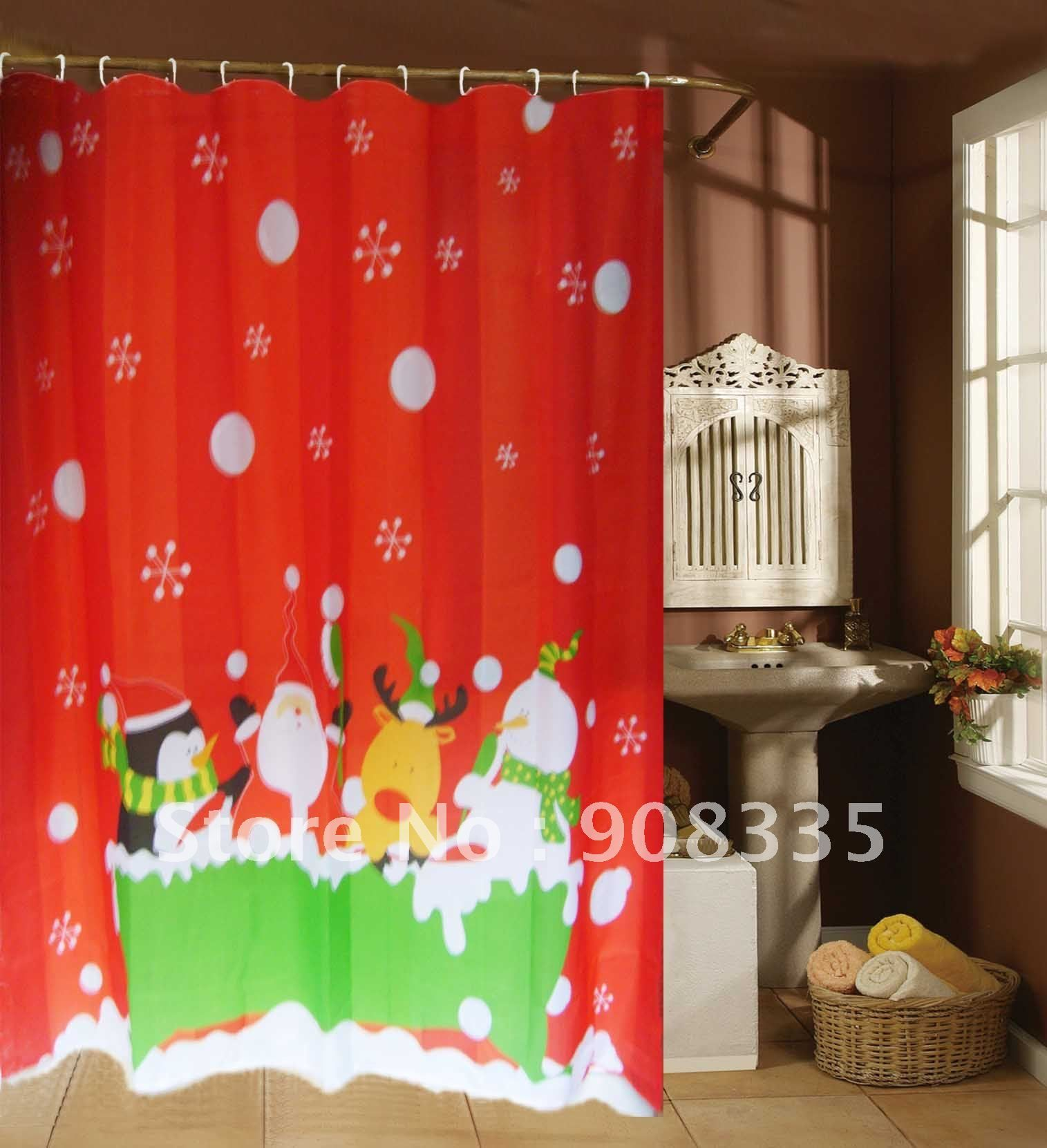Kids Christmas Shower Curtain Pinup Sexy Retro Santa Pictures Jpg 1515x1661