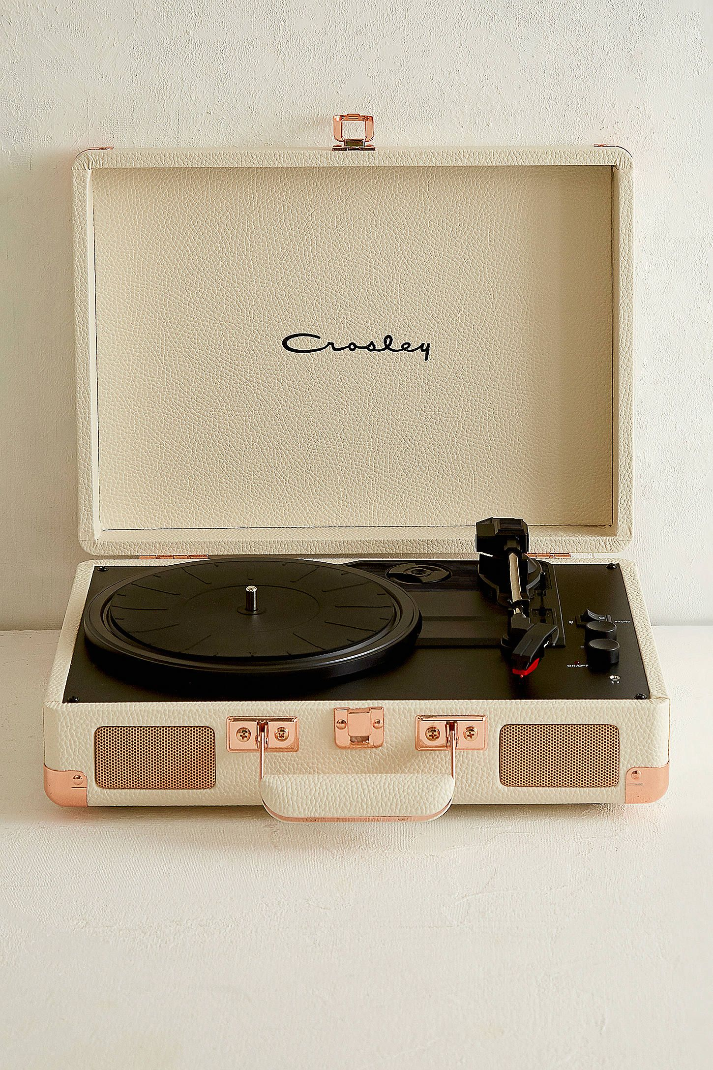 Crosley Cruiser Cream And Rose Gold Bluetooth Vinyl Record Player Vinyl Record Player Record Player Crosley Cruiser