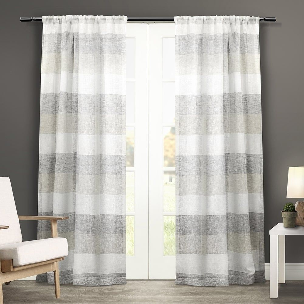 office drapes. ATI Home Bern Rod Pocket Window Curtain Panel Pair (Bern Dove Grey - 84 Inches Office Drapes W