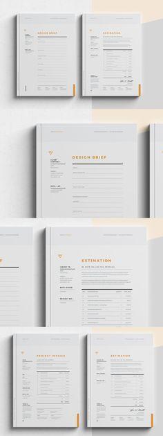 Brief - Estimation - Invoice Templates InDesign INDD Graphics