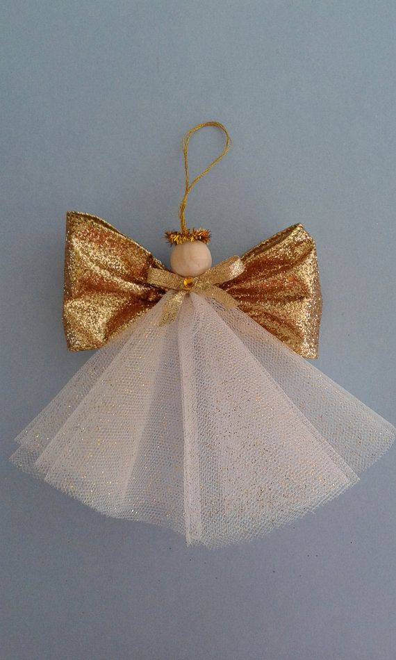 Angel Ornament Angel Decoration Christmas Angel Ornament Gold Angel Ornament Tulle Angel Christmas Tree Angel Diy Christmas Angel Ornaments Christmas Angel Crafts Christmas Angel Ornaments