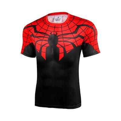 d070f7b80 Captain America Spiderman 3D Printed T shirt Men breathable Shirts 2017  Crossfit Tops For Male