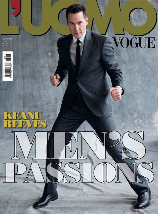 2014 December, Vogue Magazine with Keanu Reeves.