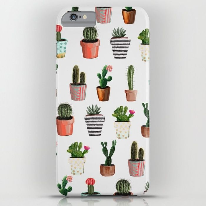CACTI   Watercolor succulent cactus collection iPhone & iPod Case by MODERN…