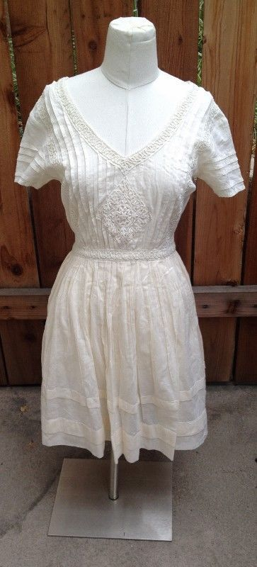 Sheer White URBAN OUTFITTERS by THISTLEPEARL Cream Lace Dress, Sz 2. Lovely dress for summer....how sweet would this be with a straw hat, side braid and delicate sandals?