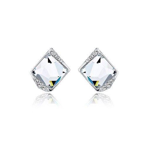 Clear Square Swarovski Crystal Earrings 8f5eb0e2401a