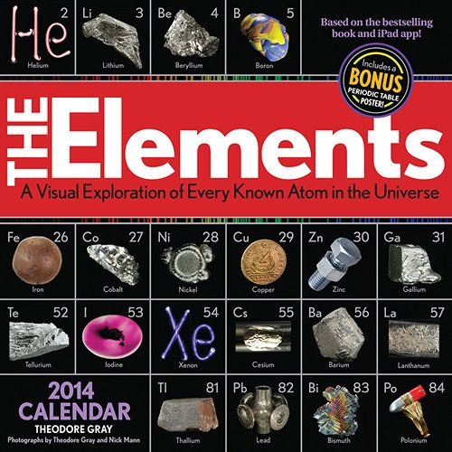 Elements 2014 wall calendar walls periodic table and ipad app elements wall calendar the elements calendar is a breathtaking marriage of science and art urtaz Image collections
