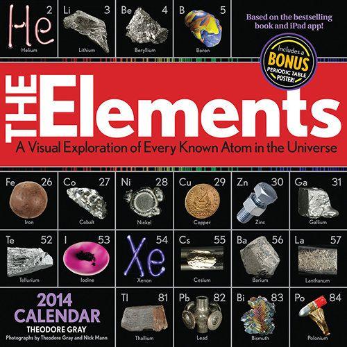 Elements Wall Calendar The Elements Calendar is a breathtaking - new periodic table app.com