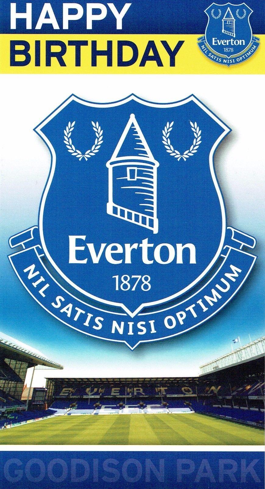 Official Everton Football Club Birthday Card Or Gift Wrap Everton Football Club Everton Birthday Cards