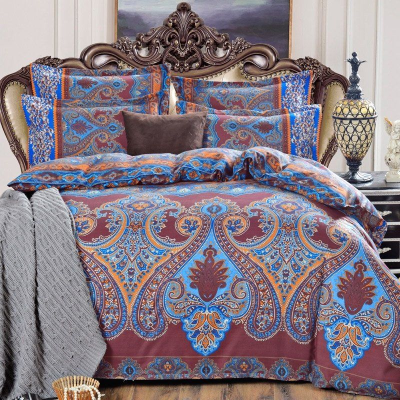 Brown and Aqua Queen Size #Bedding #Bedspread #Bedroom ...