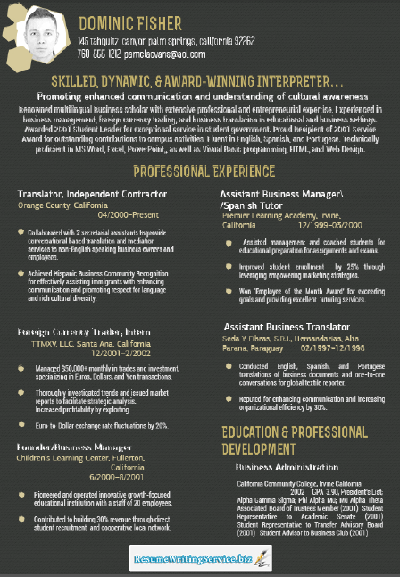 Good Sample Professional Resume Format offers you a cleanlooking