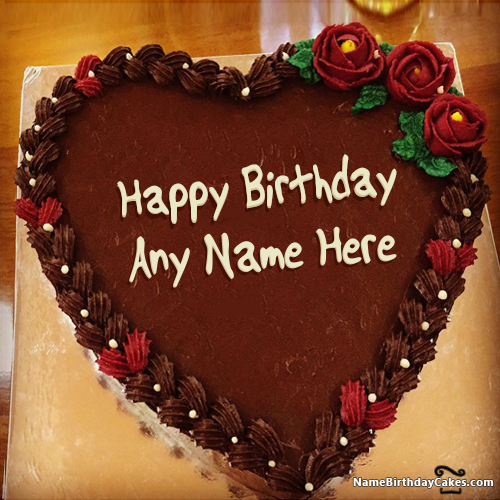 Chocolate Birthday Cakes With Names For Wife Birthdays Pinterest