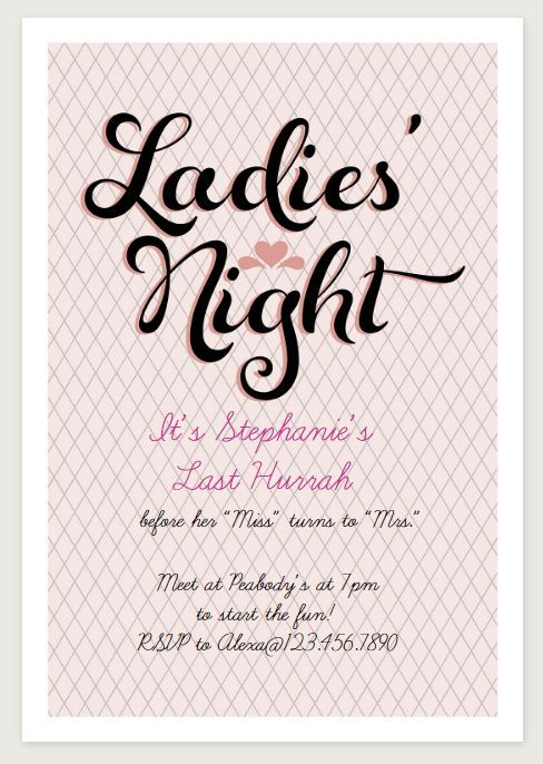 image relating to Free Printable Bachelorette Party Invitations known as 9 Free of charge Bachelorette Social gathering Invites Yourself Will Appreciate Enables