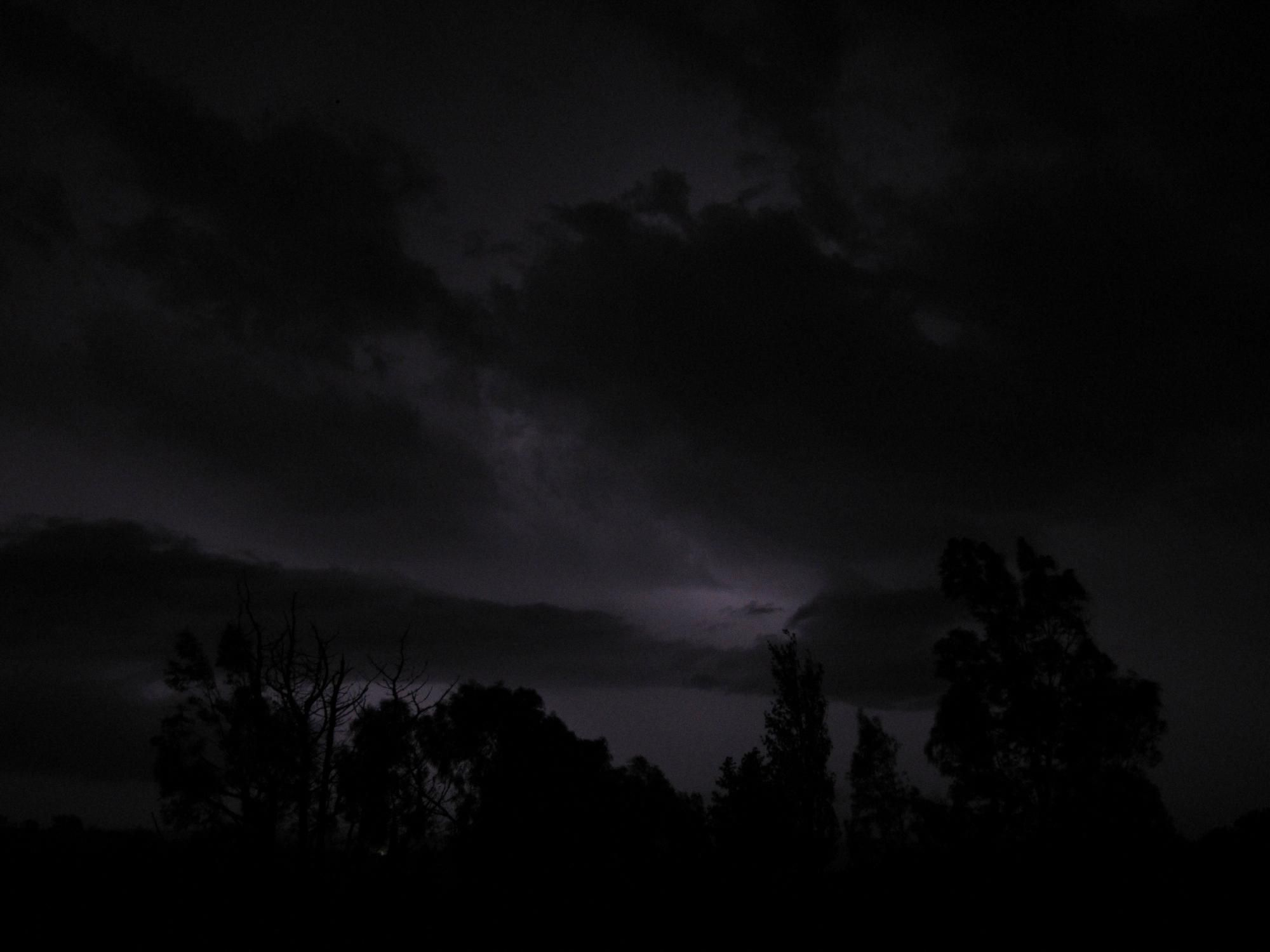 Dark Stormy Night Landscape